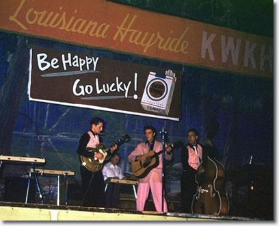 Elvis, Scotty & Bill on The Louisiana Hayride - January 22, 1955