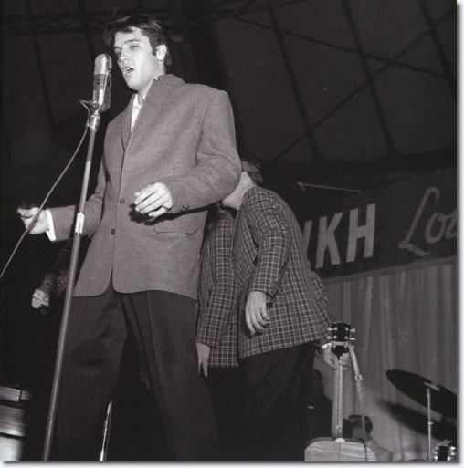 Elvis performs on his last Louisiana Hayride show, Saturday, December 16, 1956