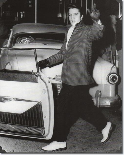 Elvis Leaving The Hayride December 16, 1956.