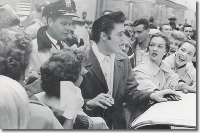 Elvis Presley December 11 1956 Mobbed By Fans In