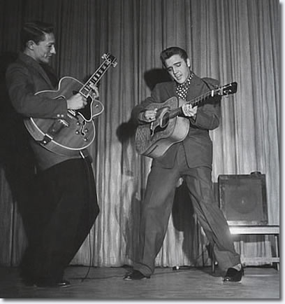 Scotty Moore and Elvis Presley Las Vegas 1956