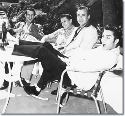 Relaxing by the pool between shows April 26, 1956