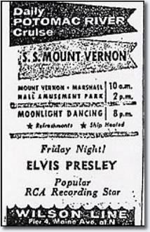 Elvis on the Potomac 1956