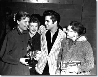 Elvis posing backstage at the Auditorium in Ottawa - Apr. 3, 1957