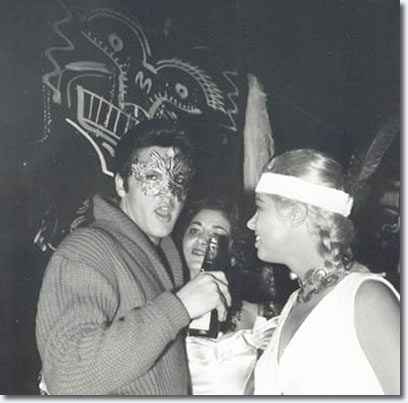 Elvis and Jeanne Laverne Carmen at Sy Devores Halloween party in 1957