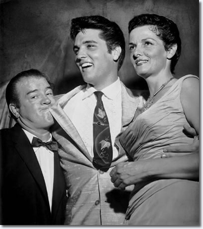 Elvis with comic Lou Costello and actress Jane Russell