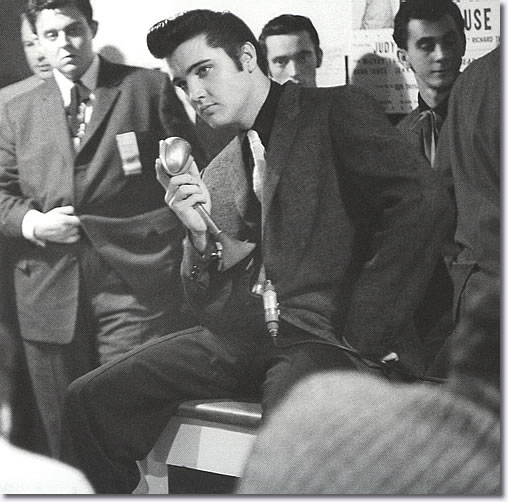 Elvis Presley at the Press Conference Pan Pacific Auditorium - October 28, 1959