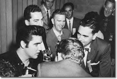 Elvis, Bruno Cimmoll, Mark Raines, RCA Rep. Ernie Henn, Tom Diskin