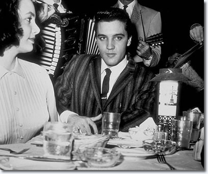 Kitty Dolan, Elvis Presley Frank Senne's Moulin Rouge club in Los Angeles, March 11, 1958