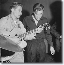 Scotty Moore & Elvis Presley rehearse for Milton Berle Show
