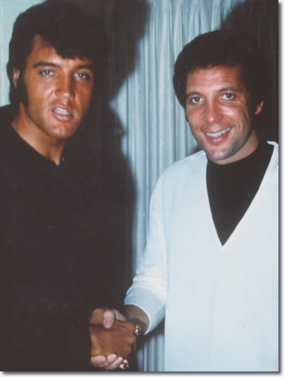 Elvis Presley and Tom Jones : The Flamingo Hotel : August 10, 1969.