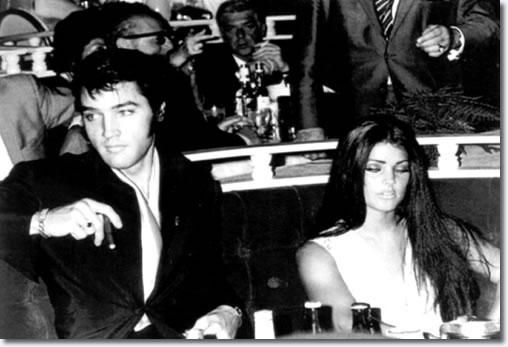 Elvis and Priscilla Presley - Barbra Streisand's Vegas show - 1969