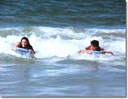 Elvis and Priscilla Surfing Hawaii 1969