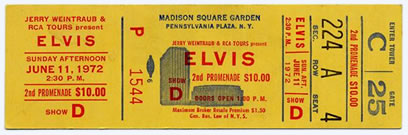 11 June 8.30pm : Elvis Presley Concert Ticket