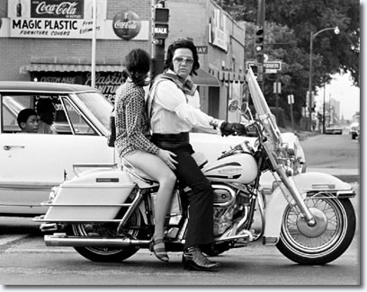 Elvis Presley and Mary Kathleen Selph at the corner of South Parkway and Elvis Presley Blvd