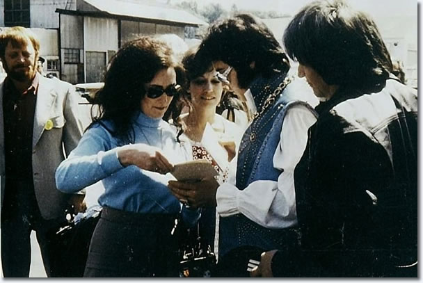 Elvis Presley With Fans After Arriving At The Seattle