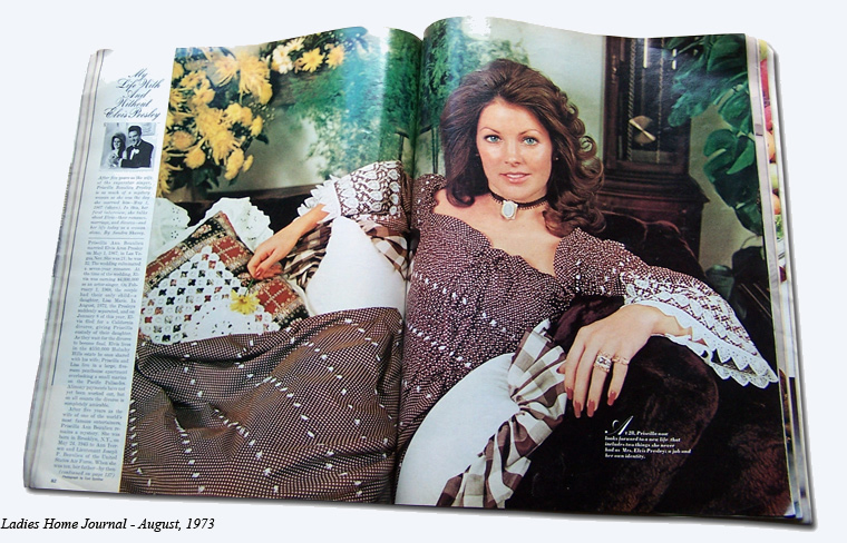 Priscilla Presley - My Life With and Without Elvis Presley - Ladies Home Journal - August, 1973