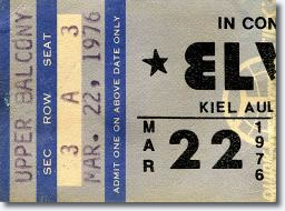 Ticket, Elvis Presley Show : Kiel Auditorium St Louis, Miss