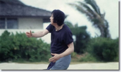 Elvis Presley playing Football in Hawaii March 1977