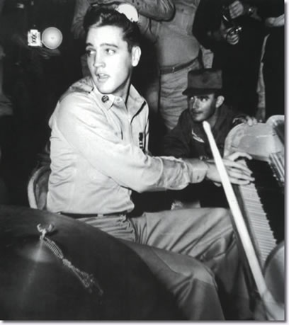 Elvis plays piano on the U.S.S. Randall