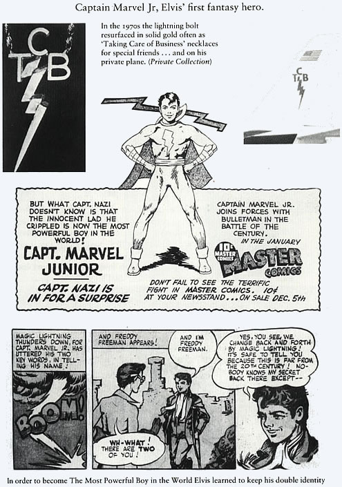 Elvis Presley and Capt. Marvel Jr