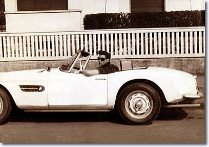 Elvis the BMW 507 in front Goethestraße 14, in Bad Nauheim - June 1959