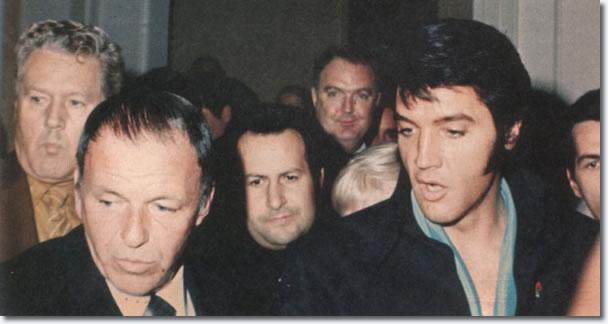 Vernon Presley, Frank Sinatra Joe Esposito, y Elvis Presley - 29 de agosto 1969