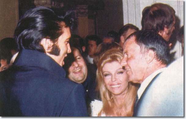 Elvis Presley, Frank Sinatra, Nancy y Frank Sinatra - 29 de agosto 1969