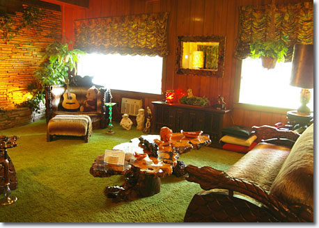 Jungle room ... Elvis bought the furniture in one hit to annoy his dad ...