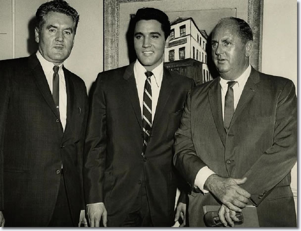 Vernon Presley, Elvis Presley and Colonel Tom Parker