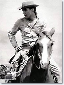 Elvis in the movie 'Flaming Star'.