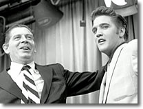Milton Berle and Elvis Presley