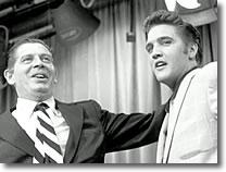 Milton Berle and Elvis Presley