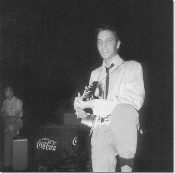 Elvis Presley - Backstage at the Overton Park Shell, Friday, July 30, 1954