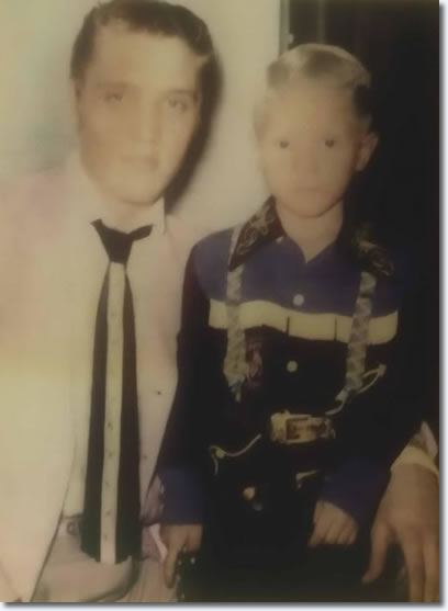 Elvis with child, Jerry Turner who would grow up to be a policeman assigned to guard Elvis' body at his funeral. Jerry describes his duty at Elvis' funeral as the saddest of his life ...