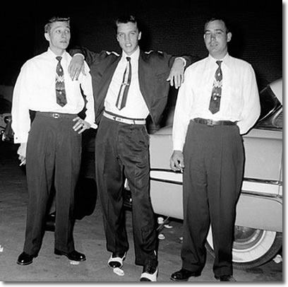Scotty Moore, Elvis Presley and Bill Black - Memphis September 9, 1954
