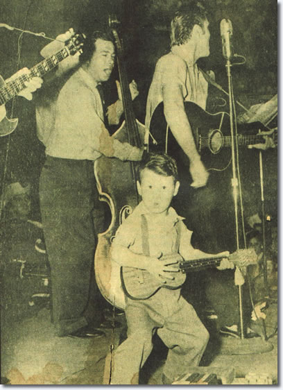 Bill Black, Royce Hanson Jr. and Elvis Presley - Gladewater High School - April 30, 1955