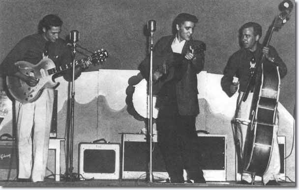 Scotty Moore, Elvis Presley & Bill Black - Beaumont Texas June 21, 1955