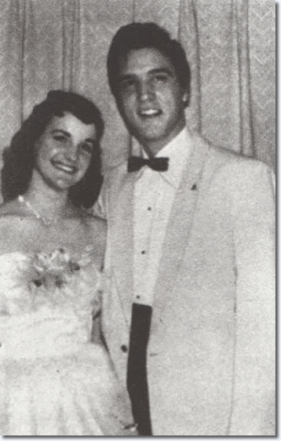 Elvis Presley and Dixie Locke : Dixie Locke's Junior Prom : May 6, 1955.