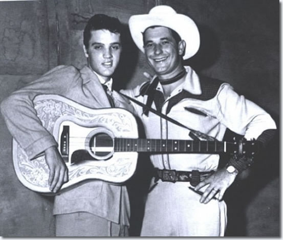 Elvis Presley and Texas Bill Strength at the Overton Park Shell.