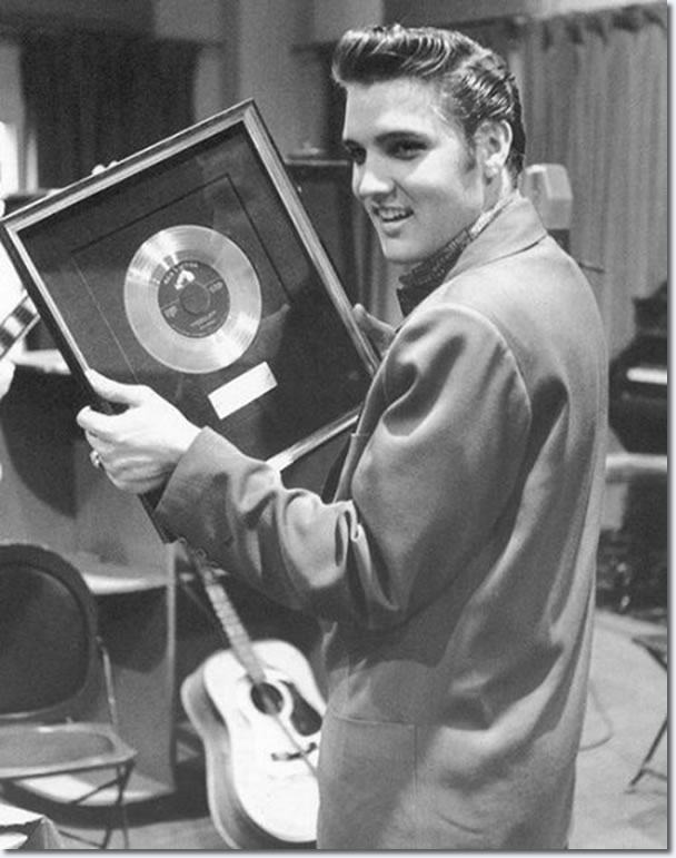 The one millionth record of Heartbreak hotel Presented to Elvis Presley by RCA Victor April 14, 1956