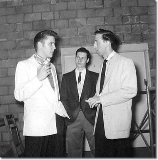 Elvis Presley, Glen Glen and DJ Fontana : San Diego : April 4, 1956.