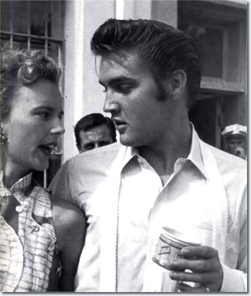 Ann Rowe and Elvis Presley : Sunday, August 5, 1956, Tampa, Florida.