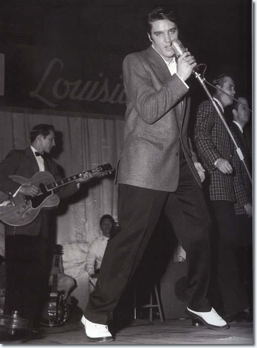 Elvis performs on his last Louisiana Hayride show, Saturday, December 16, 1956