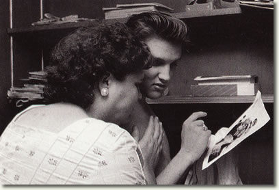 Elvis Presley with his mother, Gladys - July 4, 1956