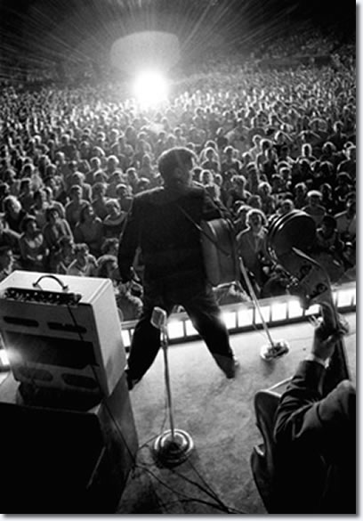 Starburst, Elvis onstage at Russwood Park, Memphis, Tennessee, July 4, 1956