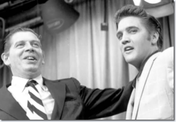 Milton Berle and Elvis Presley : The Milton Berle Show Rehearsals : June 5, 1956.