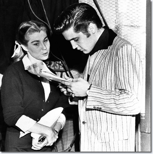Judy Spreckels and Elvis Presley : The Milton Berle Show Rehearsals : June 5, 1956.
