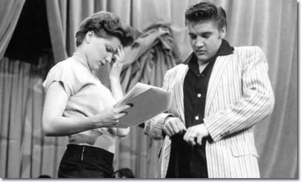 Debra Paget and Elvis Presley : The Milton Berle Show Rehearsals : June 5, 1956.