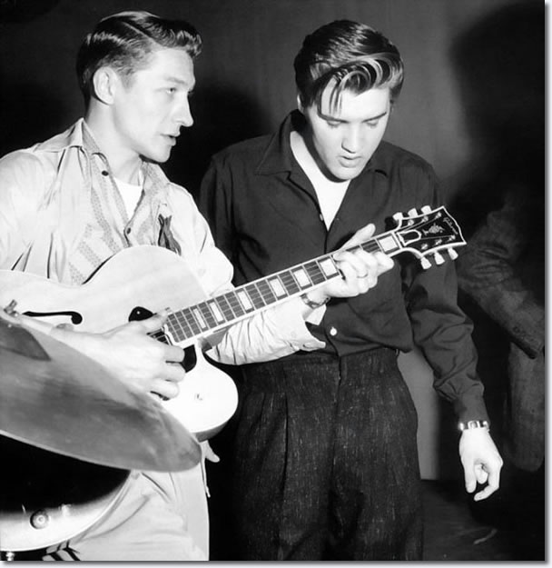 Scotty Moore and Elvis Presley : The Milton Berle Show Rehearsals : June 5, 1956.